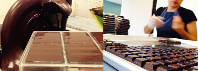 Tempering and packaging at Nibble Chocolate