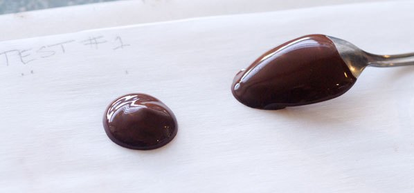 chocolate tempering test