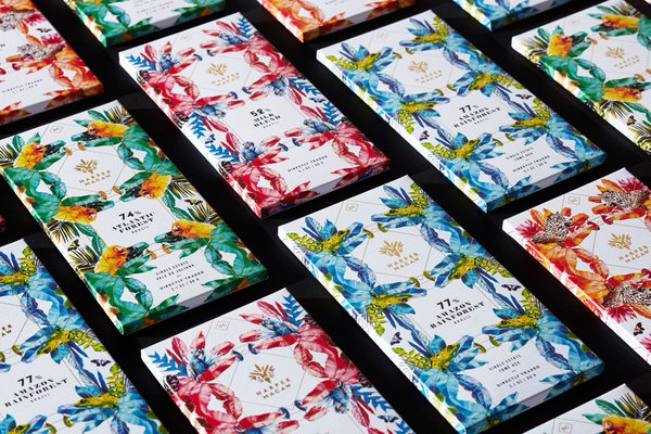 Harper Macaw chocolate bars