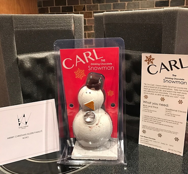 Shipping Carl the Snowman