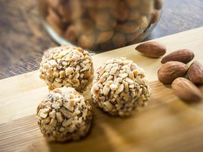 Almond Butter Chocolate Truffles