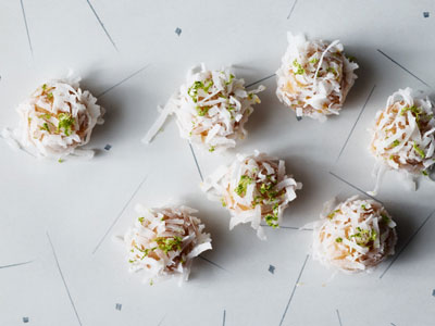 White Chocolate Coconut Lime Truffles