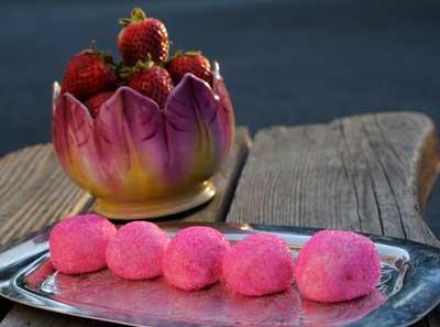 Strawberry Rhubarb White Chocolate Truffle